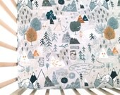 Crib Sheet Max's Map. Fitted Crib Sheet. Baby Bedding. Crib Bedding. Crib Sheets. Woodland Crib Sheet. Adventure Nursery.