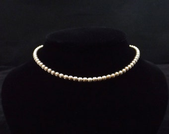 Sterling Silver Hollow Bead Necklace