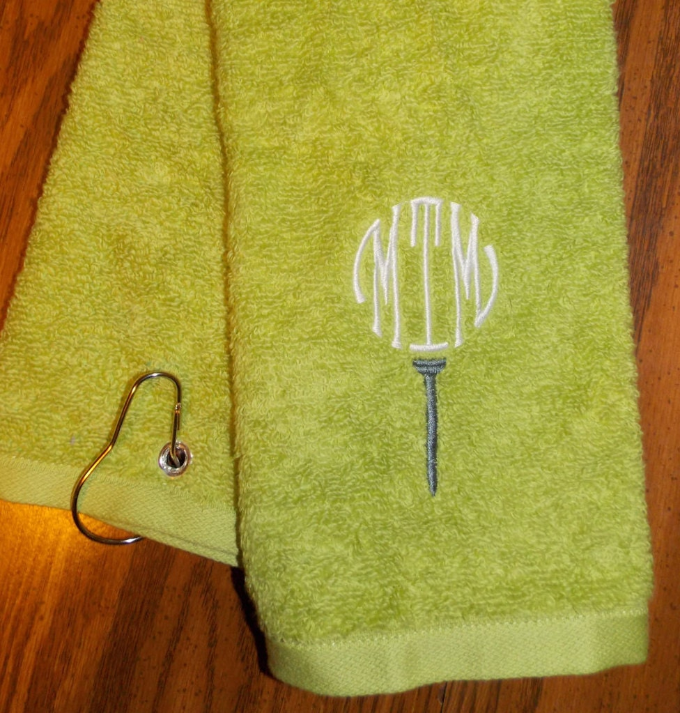 Monogrammed Golf Towel Personalized Golf Towel By