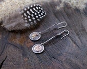 Mixed Metal Moon Cycle Earrings