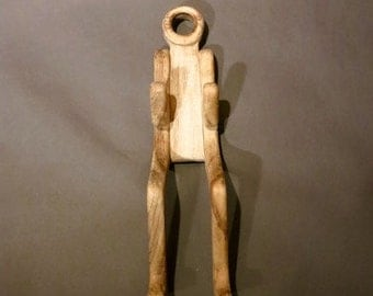 Vintage Wooden Human Figure Wall Hanging