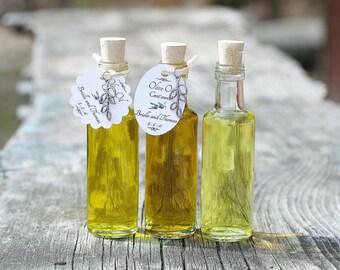 48 Empty 3.5oz Favor Bottles Olive Oil Tags Olive Charms Corked Bottles Empty Glass Bottles Favor Bottles Olive Oil Tags Olive Oil Favors
