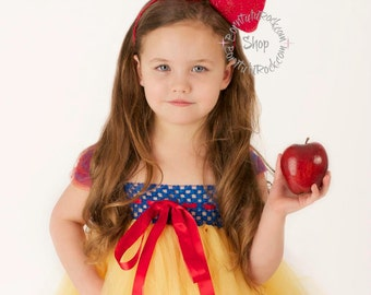 Fairest // Big Red Bow headband Snow White inspired // by Born TuTu Rock