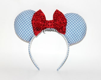 Dorothy Mouse Ears // The Wizard of Oz Mouse Ears // Oz Girl // by Born Tutu Rock