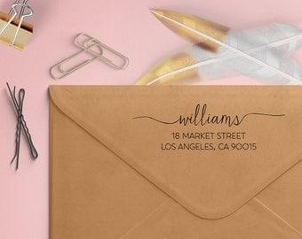 Custom Address Stamp - Thin Lines Self Inking Return Address Stamp