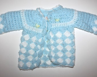 Vintage 70s Baby Sweater - Love Spun - Easter Chic - Light Blue