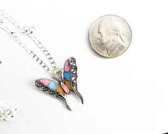 Butterfly necklace, pink necklace, blue butterfly necklace,butterfly pendant, blue butterfly pendant, gift ideas,butterfly necklaces,