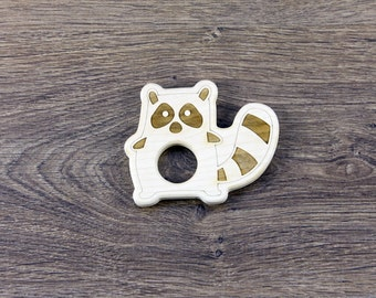PERSONALIZED Wood Teether / Natural Baby Toy / Eco Friendly