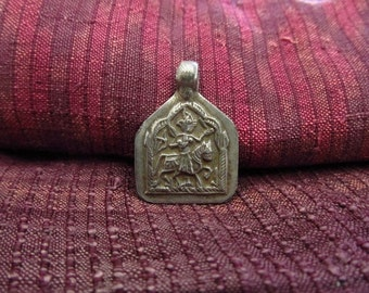 Antique Silver Bhumiya Raj Hindu Amulet