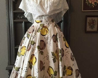 50s Apple Novelty Print Circle Skirt
