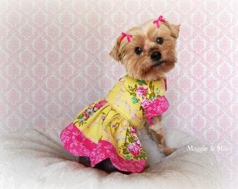 Dog Dress, Dog Clothes, Ruffled Dog Dress, Scalloped Dog Dress, Pet Clothing, Fancy Pet Clothing