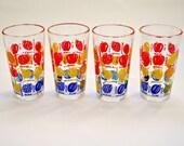 Set of 4 Vintage French Juice Glasses
