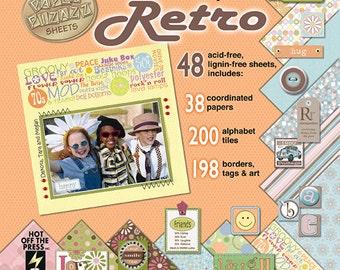 "SALE ******  Paper Pizazz  ~ 8 x 8 Cardstock ""RETRO"" ~ Paper"