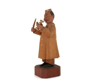 Anri Doctor Mortician Italian Wood Carving from the 1950's