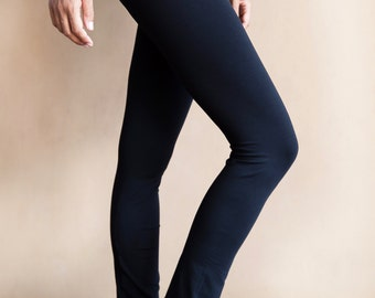 Womens Yoga Pants - Ankle Length in Cotton Spandex - 'Supta' - Yoga Clothes