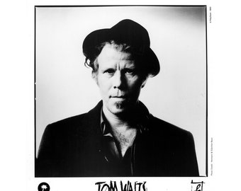 Tom Waits Publicity Photo 8 by 10 Inches