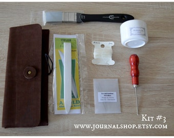 Bookbinding Tool Kit, gift set for bookbinders, booklover tool kit, essential bookbinding tools