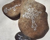 Prayer stones - visitation rocks - positive affirmations
