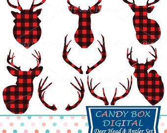 Deer head clipart | Etsy