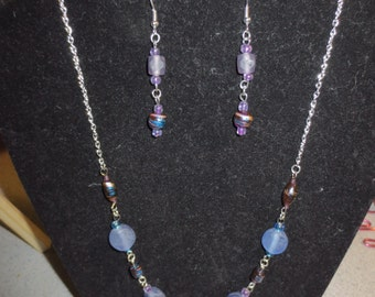 For the Love of Purple! - Earring & Necklace Set
