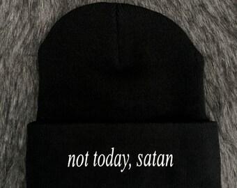 Not today, satan beanie hat
