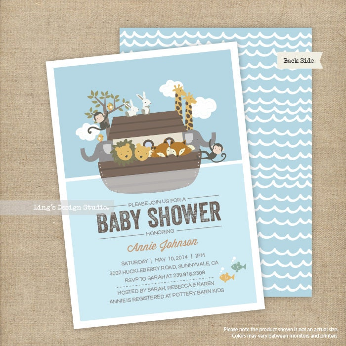 noah 39 s ark invitations noah 39 s ark baby shower
