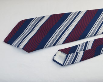 Vintage Men's Tie, Blue, Red and White Stripes