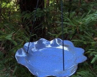 Hanging Ceramic Bird Feeder / Bird Bath