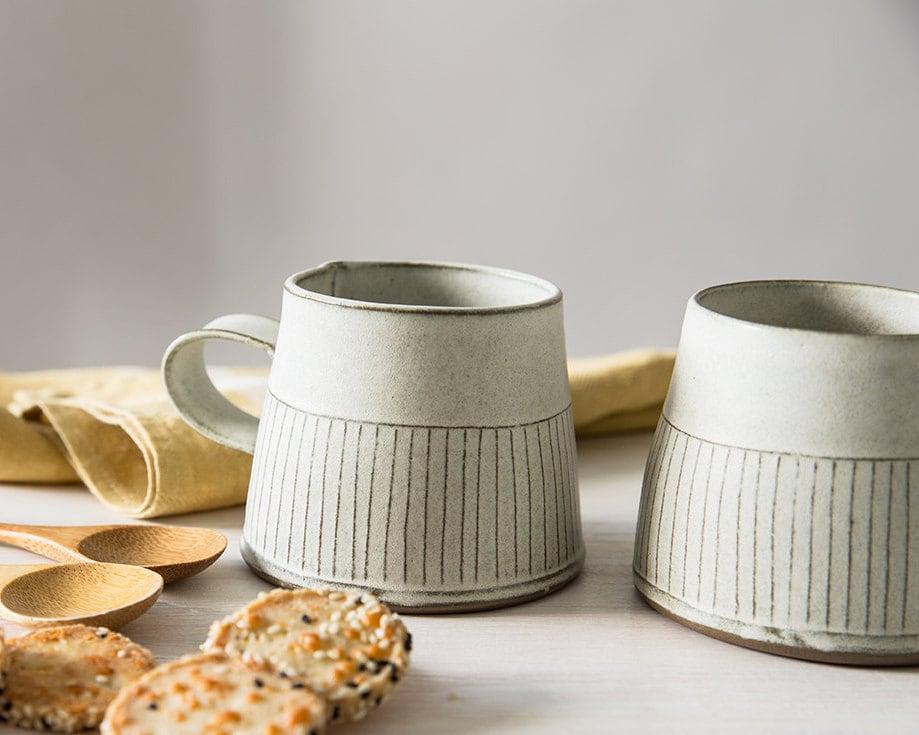 Ceramic Mug Modern Tea Cup White Ceramic Cup White Coffee