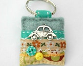 Car key ring - first car gift - silver car keychain - car lover - driving test keyring - new car gift - old car keyring - auto keyring - UK