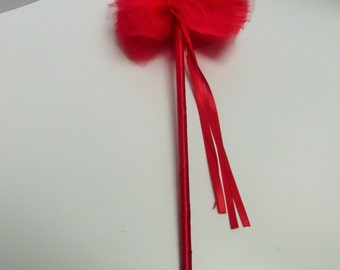 red princess wand, christmas wand, valentine's day wand, party favor