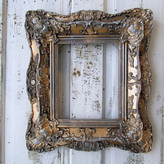 Antique Ornate Picture Frame Wood And Gesso Gold Leaf Gilded