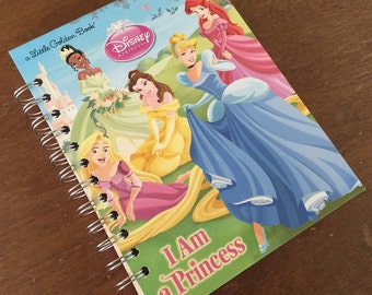 I Am a Princess Little Golden Book Recycled Journal Notebook