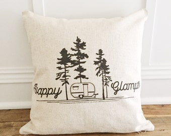 Happy Glamper Pillow Cover