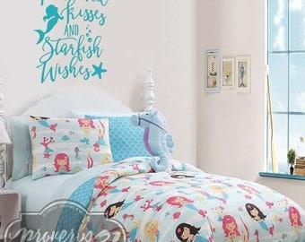 Mermaid Kisses, Starfish Wishes- Vinyl Wall Decal