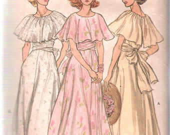 Vintage 1979 Vogue 9731 Misses Long Ruffled Dress Sewing Pattern Size 14 Bust 36""