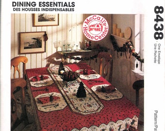 """Vintage 1996 McCall's 8438 Home Decorating """"Dining Essentials"""" Sewing Pattern  UNCUT"""