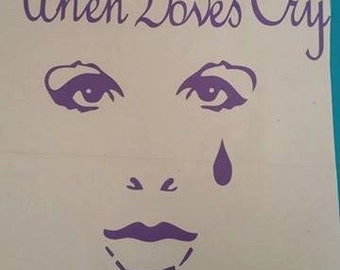 CUSTOM VINYL Decal Design Choose your Colors Prince Purple Rain When Doves Cry Face