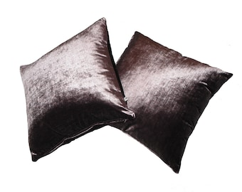 Beige Purple Natural Taupe Velvet Pillows 20x20 13x13 Custom Sizes Available