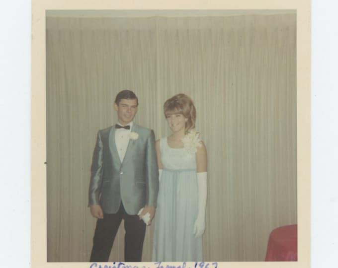 Vintage Snapshot Photo: Christmas Formal, 1967 (69498)