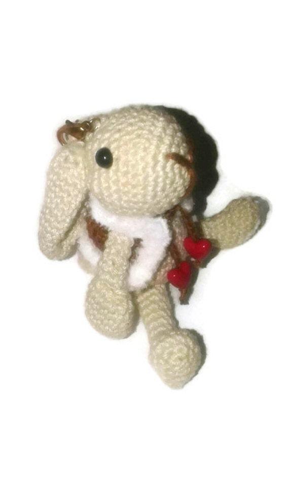 Amigurumi Bunny Keychain : Keychain bunny amigurumi little bunny crochet charm bunny