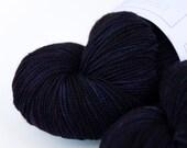 Alaskan Midnight -- Curious Sock (100% superwash merino, fingering weight)