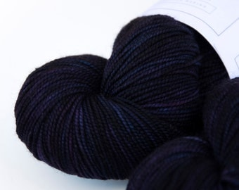 Alaskan Midnight -- Curious Sock (100% superwash merino, fingering weight)