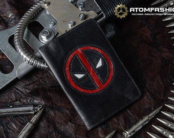 Deadpool leather passport cover