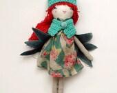 Owl Doll, 16 inch doll, Rag Doll, Handmade Owl Doll, Soft Owl, Girl Doll, Cloth Doll, Heirloom Doll