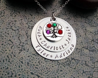 Mother's Day Gift Tree of Life Jewelry Personalized Family Tree Necklace Personalized Mothers Day Gift Mother's Jewelry