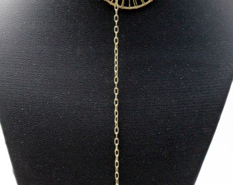 Gold Wire Wrapped No Clasp Necklace - Lariat Necklace - Gold Y Necklace - Wire Wrapped Y Necklace - Lariat Necklace - Gold Necklace