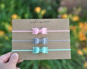 Baby Headband Set. Baby Headbands. Infant Gift Set. Tiny Bow Headbands. Felt Headbands. Trending Now