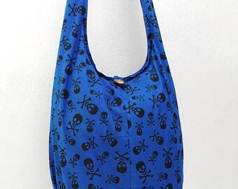 Women bag Handbags Cotton bag Skeleton Hippie Hobo bag Boho bag Shoulder bag Sling bag Messenger bag Tote bag Crossbody bag Purse Dark Blue