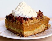 Pumpkin Pie Cake Recipe Downloadable, Printable Image Instant Download